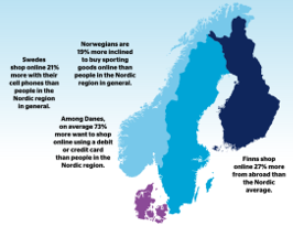 map & statistics E-commerce in the Nordics 2018