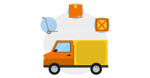 e-commerce delivery of parcels